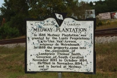 Medway Plantation Marker image. Click for full size.