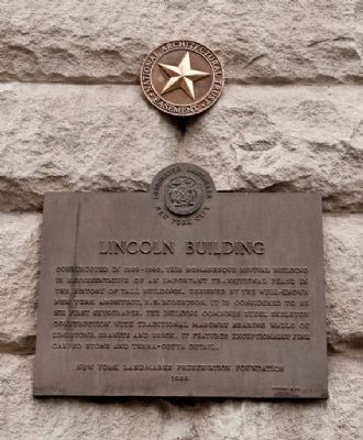 Lincoln Building Marker image. Click for full size.