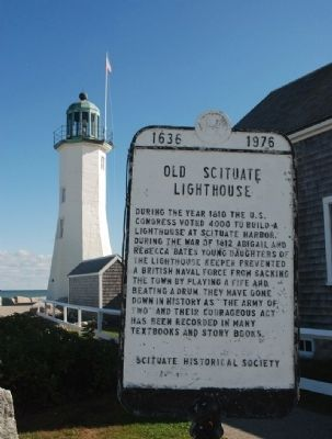 Old Scituate Lighthouse Marker image. Click for full size.
