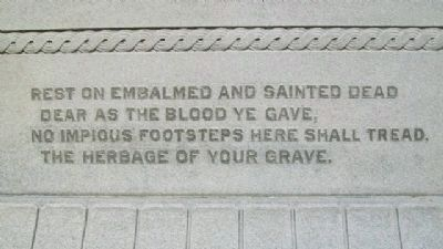 Franklin County Civil War Memorial Quote Photo, Click for full size