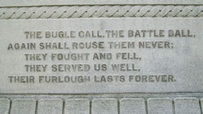 Franklin County Civil War Memorial Quote image. Click for full size.