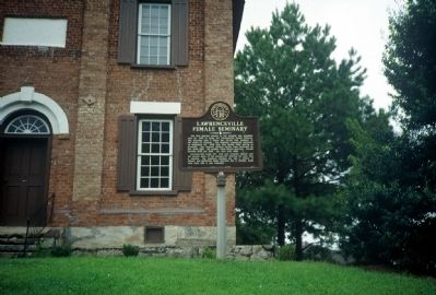 Lawrenceville Female Seminary Marker in 1991 Photo, Click for full size