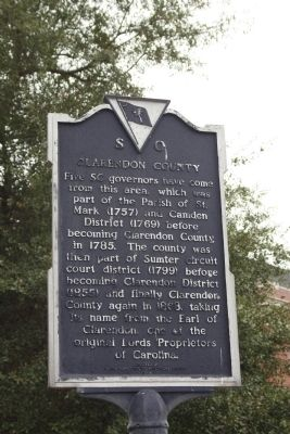Clarendon County Marker image. Click for full size.