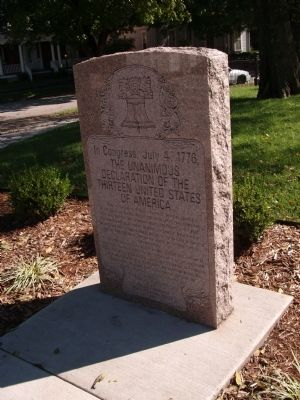 Declaration of Independence - Memorial Stone Photo, Click for full size
