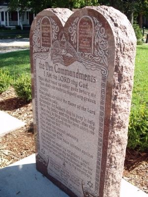 Ten Commandments - - Memorial Stone Photo, Click for full size
