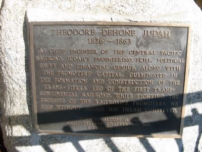 Theodore Dehone Judah Marker Photo, Click for full size