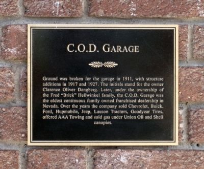 C.O.D. Garage Marker Photo, Click for full size