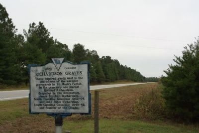 Richardson Graves Marker as seen looking south along Old River Road ( State Road 14-76) image. Click for full size.