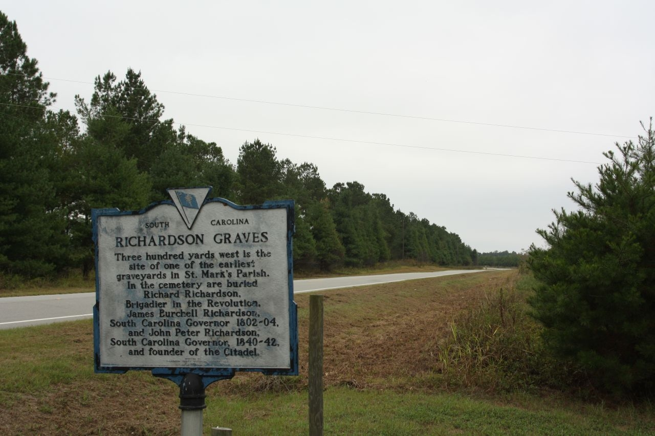 Richardson Graves Marker as seen looking south along Old River Road ( State Road 14-76)