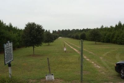 Richardson Graves Marker at the cemetery driveway image. Click for full size.
