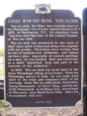 Chief Win-no-shik, the Elder Marker image. Click for full size.