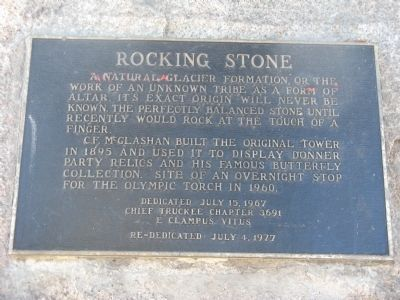 Rocking Stone Marker Photo, Click for full size