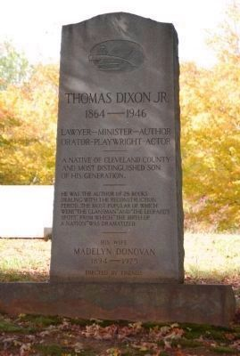 Thomas Dixon Jr. Grave Photo, Click for full size