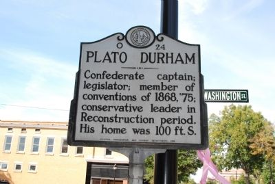 Plato Durham Marker image. Click for full size.