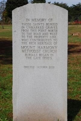 Mount Harmony United Methodist Church Cemetery image. Click for full size.
