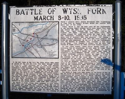 Battle of Wyse Fork Marker Photo, Click for full size