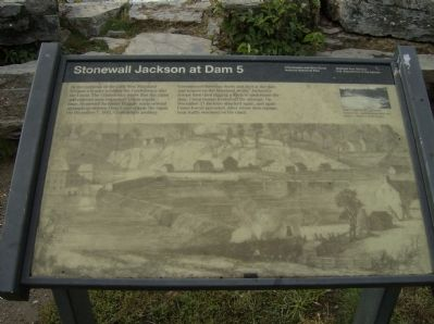 Stonewall Jackson at Dam 5 Marker Photo, Click for full size