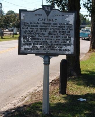 Gaffney Marker Photo, Click for full size