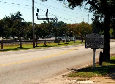 Gaffney Marker -<br>Looking South Along U.S. 29 Photo, Click for full size