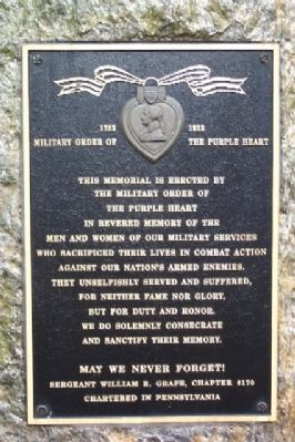 Military Order of the Purple Heart Marker image. Click for full size.