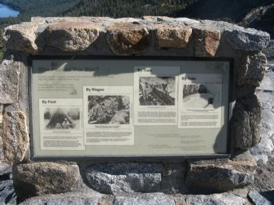 Donner Pass Marker Photo, Click for full size