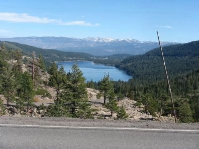 The Town of Truckee and Donner Lake Photo, Click for full size