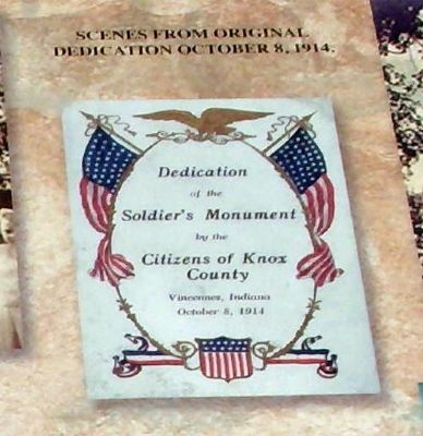 Dedication Program - Cover - - Knox County Veterans Memorial Park Marker image. Click for full size.