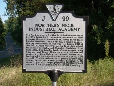 Northern Neck Industrial Academy Marker image. Click for full size.