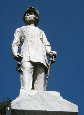 Detail of the statute atop the Pelham Monument image. Click for full size.