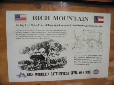 Rich Mountain Marker image. Click for full size.