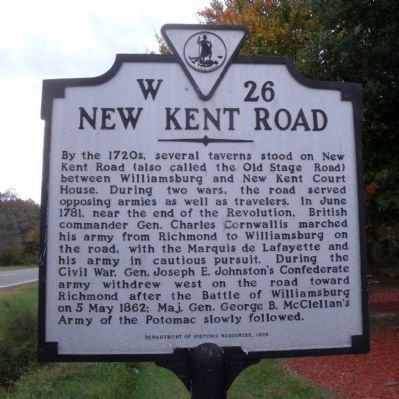 New Kent Road Marker image. Click for full size.