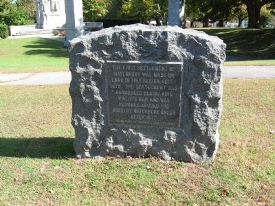 First Settlement of Waterbury Marker image. Click for full size.