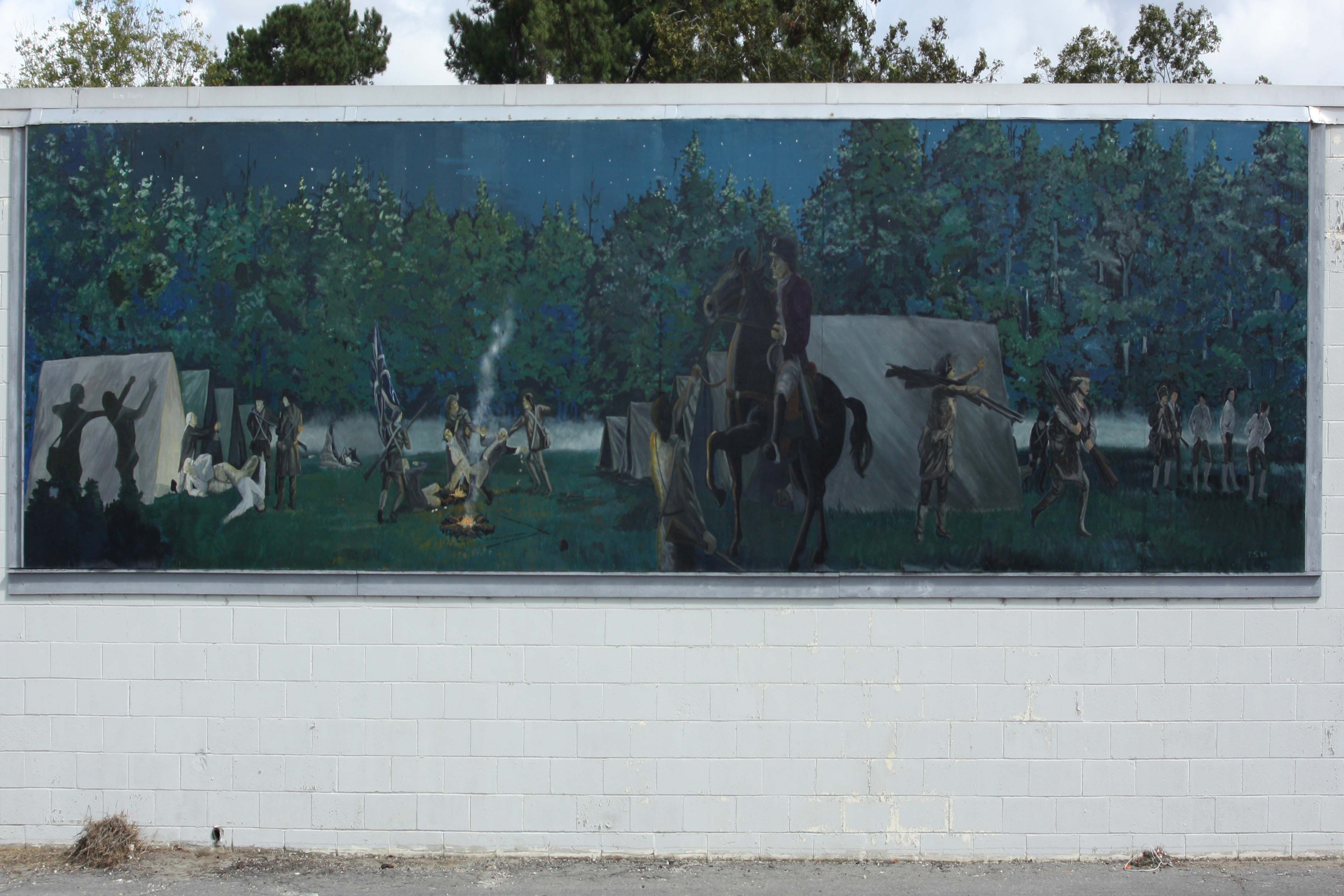 Revolutionary Skirmish Near Tearcoat Branch Mural
