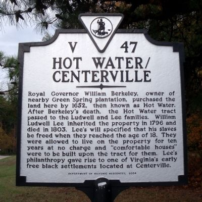 Hot Water / Centerville Marker image. Click for full size.