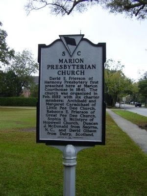 Marion Presbyterian Church Marker Photo, Click for full size
