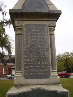 To the Dead and Living Confederate Soldiers Marker image. Click for full size.