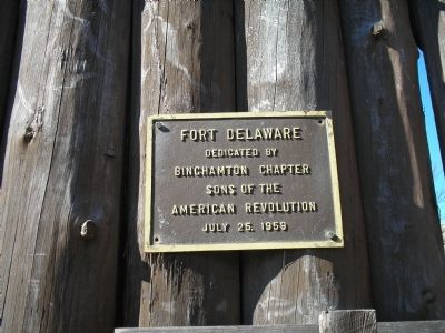 Fort Delaware Plaque Photo, Click for full size