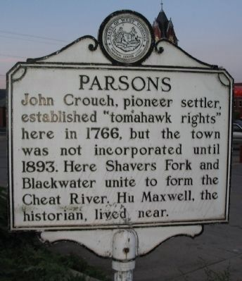 Parsons Side of Marker image. Click for full size.