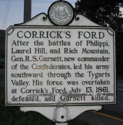 Corrick's Ford Side of Marker image. Click for full size.