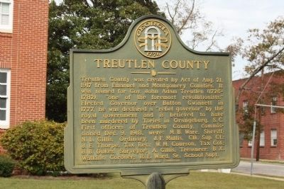 Treutlen County Marker image. Click for full size.