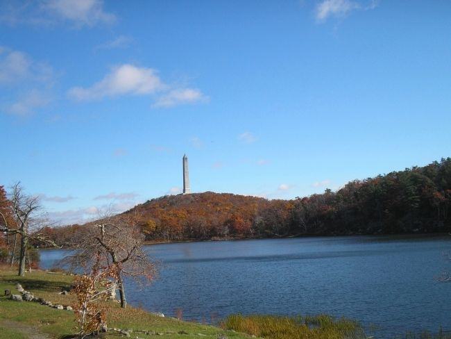 High Point Monument and Lake Marcia image. Click for full size.