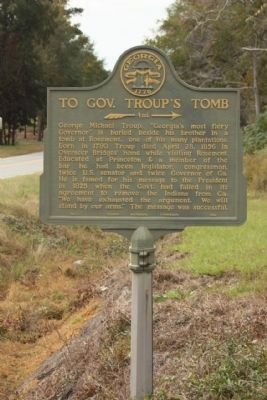 To Gov. Troup's Tomb Marker image. Click for full size.