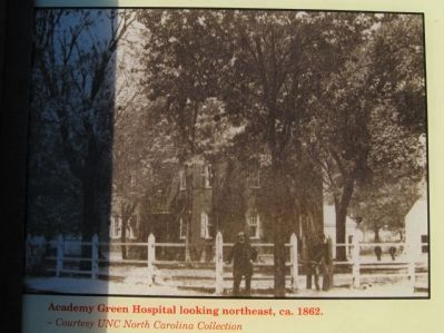 Academy Green Hospital looking northeast, ca. 1862 image. Click for full size.