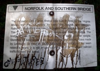 Norfolk and Southern Bridge Marker image. Click for full size.