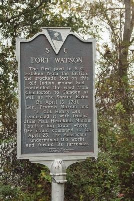 Fort Watson Marker image. Click for full size.