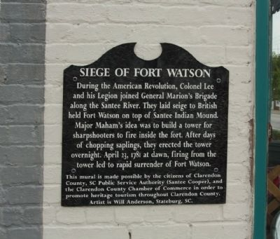 Siege of Fort Watson Marker image. Click for full size.