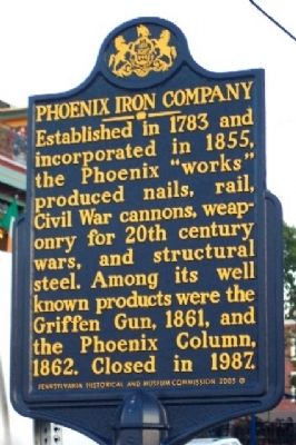 Phoenix Iron Company Marker image. Click for full size.