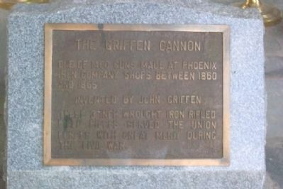 The Griffen Cannon and Memorial image. Click for full size.