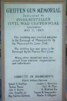 The Griffen Gun Memorial Marker image. Click for full size.