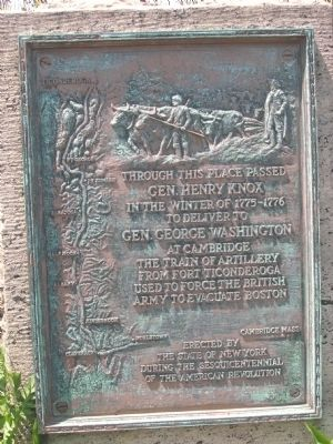 Gen. Henry Knox Trail Marker NY-23, Rensselaer, NY image. Click for full size.